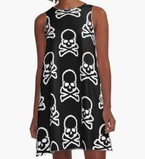Skull and Bones A-Line Dress
