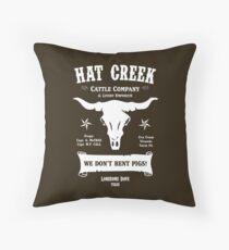 Hat Creek Cattle Company - Lonesome Dove Throw Pillow
