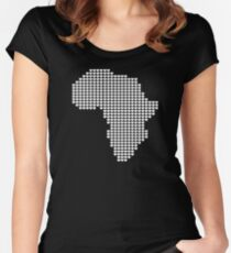 AFRICA LUV Women's Fitted Scoop T-Shirt