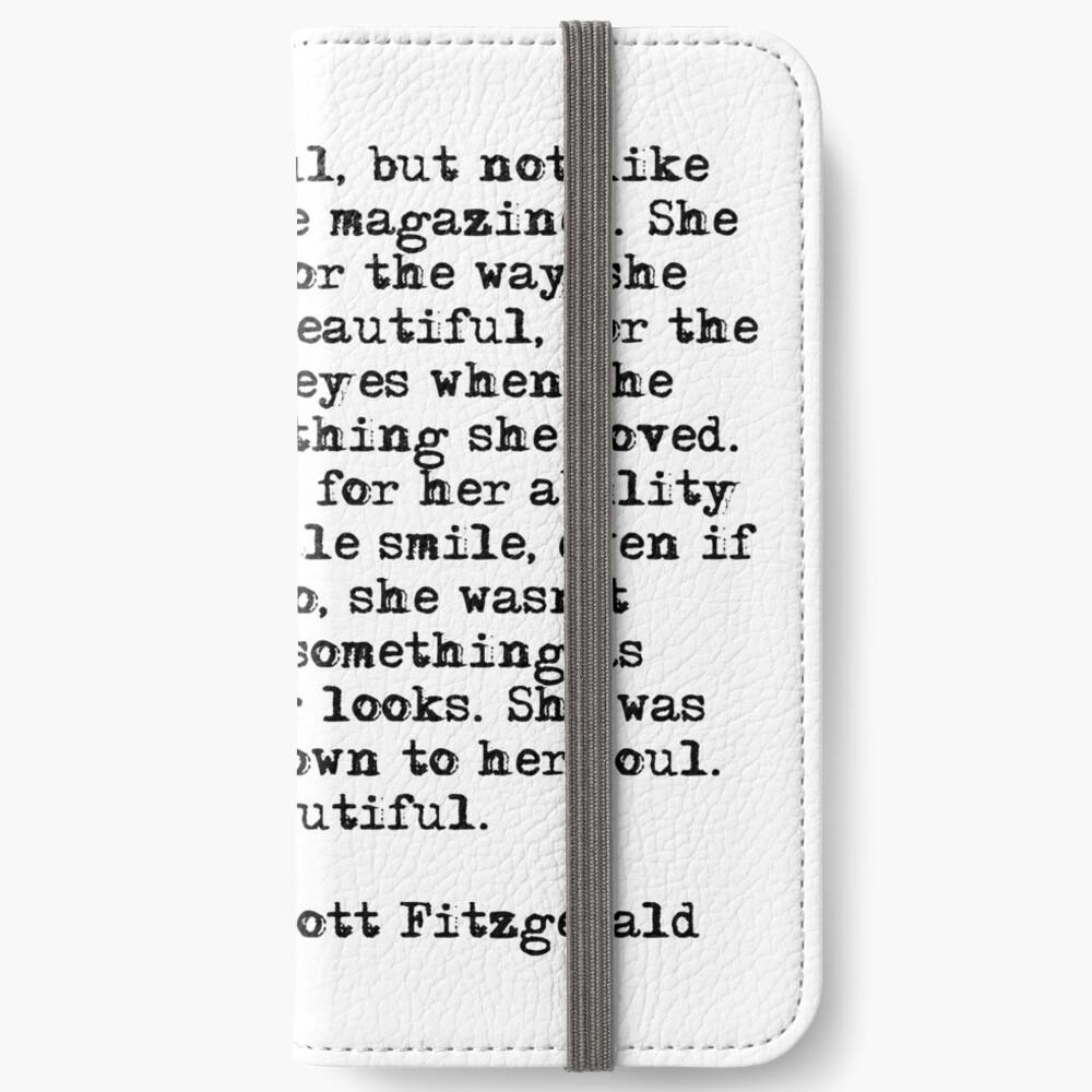Sie war wunderschön - F Scott Fitzgerald iPhone Flip-Case