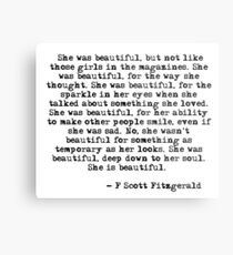 She was beautiful - F Scott Fitzgerald Metal Print