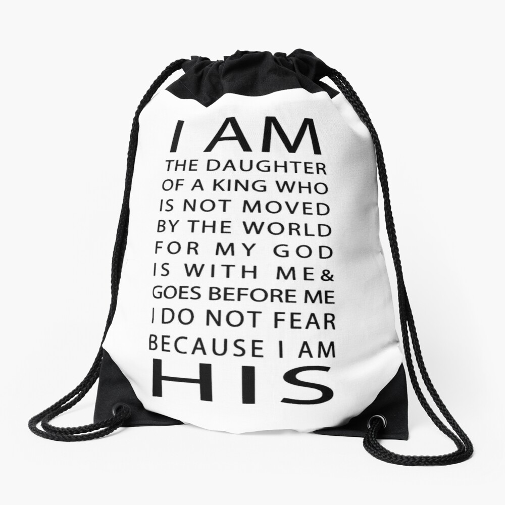 Christian Quote Drawstring Bag