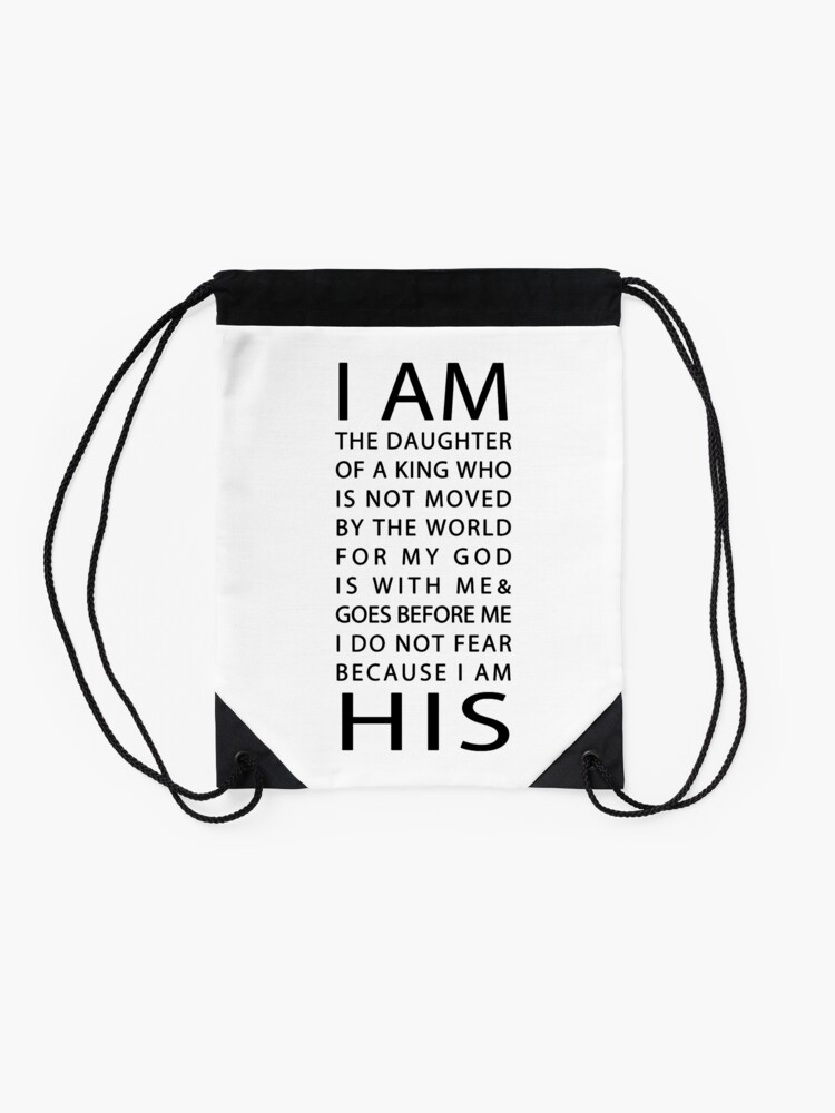 Alternate view of Christian Quote Drawstring Bag