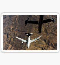 A U.S. Air Force E-3 Sentry aircraft over Afghanistan. Sticker