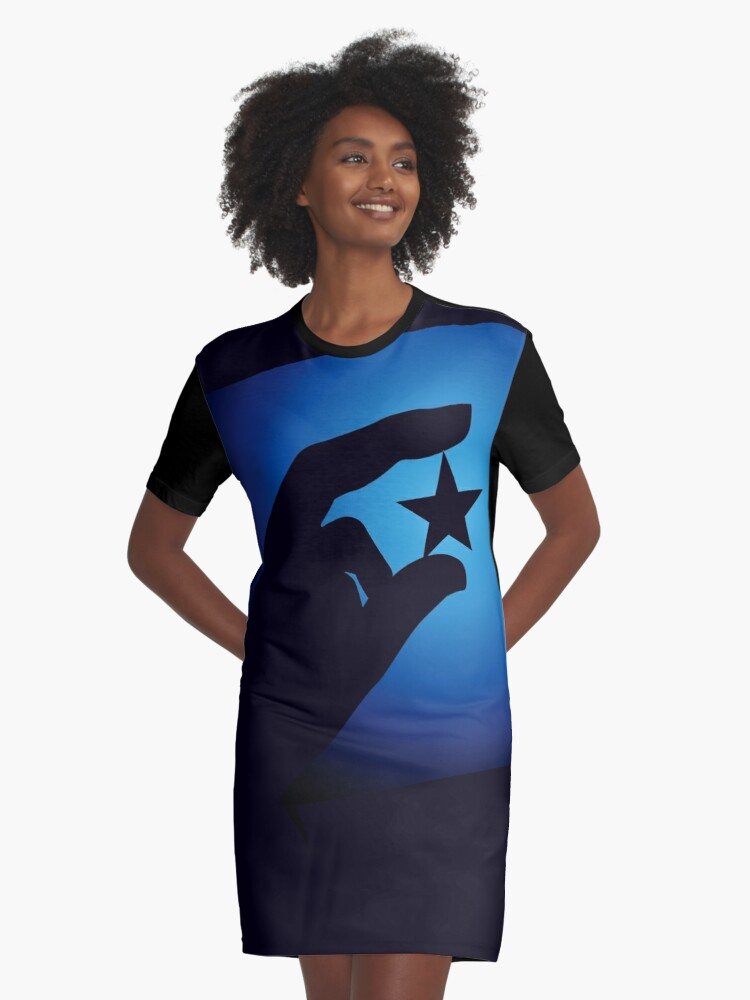 STAR Graphic T-Shirt Dress Front