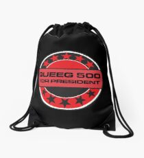 Queeg 500 For President Drawstring Bag
