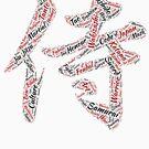 Samurai Kanji Word Cloud by HandDrawnTees