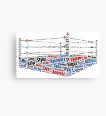 Wrestling Ring Word Cloud Canvas Print