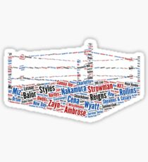 Wrestling Ring Word Cloud Sticker