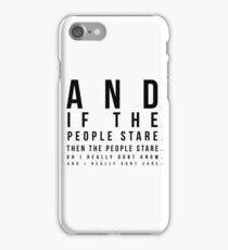 The Smiths - Hand In Glove Lyrics in Eye Test Design iPhone Case/Skin