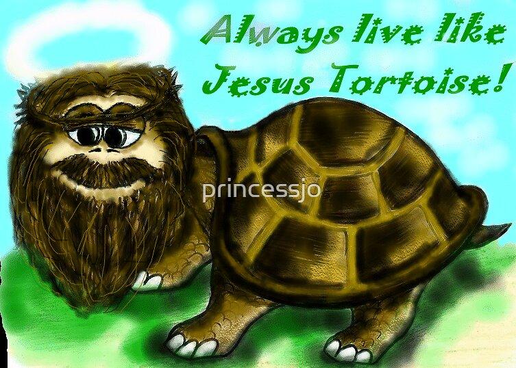 Always live like Jesus Tortoise! by princessjo