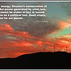 Tenney Windfarm Sunset Poster by Wayne King