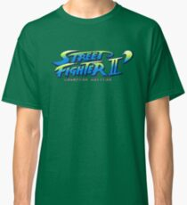 Street Fighter II Champion Edition - Title Screen Classic T-Shirt