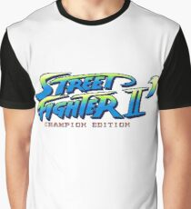 Street Fighter II Champion Edition - Title Screen Graphic T-Shirt