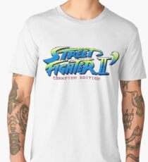 Street Fighter II Champion Edition - Title Screen Men's Premium T-Shirt