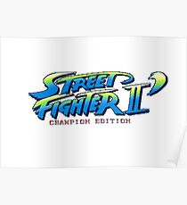 Street Fighter II Champion Edition - Title Screen Poster