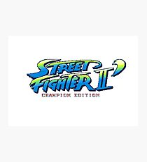 Street Fighter II Champion Edition - Title Screen Photographic Print