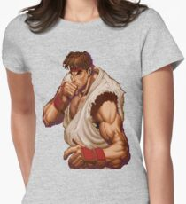 Super Street Fighter II - Intro - Ryu Womens Fitted T-Shirt