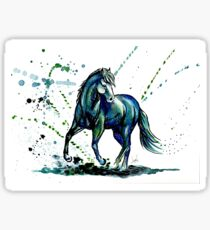 Cheval bleu Sticker