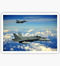 Two Royal Australian Air Force F/A-18 Hornets. Sticker