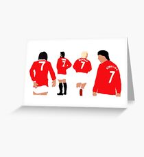 Manchester United Number 7 Legends Greeting Card