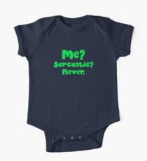 Me? Sarcastic? NEVER. in green Kids Clothes