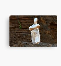 0366 Rock sculpture Canvas Print