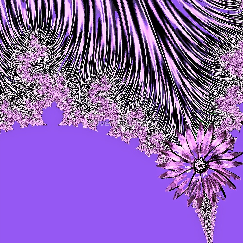 Elegant Tentacles Purple and Lilac by Saundra Myles