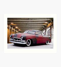 1950 Ford 'Custom 2 B' Coupe I Art Print