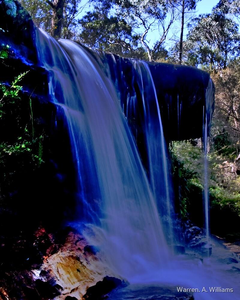 Wentworth Water Falls  , Blue Mtns , OZ by Warren. A. Williams