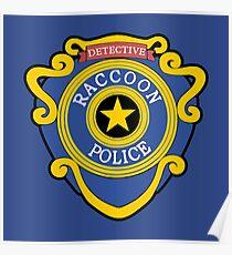 RACCOON POLICE - DETECTIVE BADGE (V1) Poster
