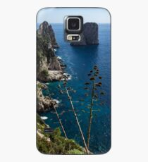 Faraglioni Sea Stacks and Agave Bloom Spikes - the Magic of Capri, Italy Case/Skin for Samsung Galaxy