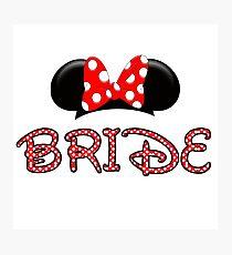 Mouse Bride Photographic Print