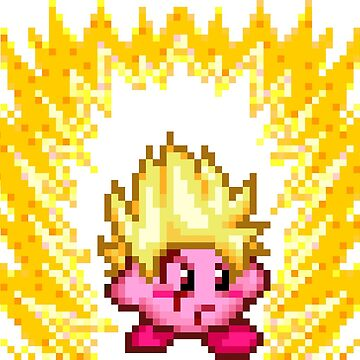 Pixel Super Saiyan Kirby by blindcoco