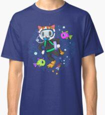 Scuba Diving Cat with Poop Snorkler Classic T-Shirt