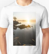 High Key Sunrise - Calm and Crystal Clear on the Shore of Lake Ontario in Toronto T-Shirt