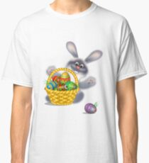 Easter Bunny With Egg Basket Classic T-Shirt