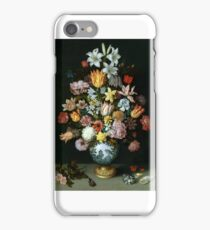 Ambrosius Bosschaert the Elder - A Still Life of Flowers iPhone Case/Skin