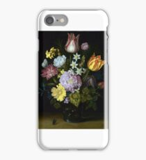 Ambrosius Bosschaert the Elder - Flowers in a Glass Vase iPhone Case/Skin
