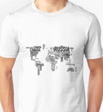 World countries map T-Shirt