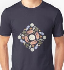 Tide Pool Mandala 5 - Watercolor  T-Shirt