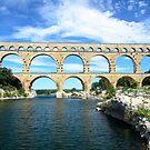 Pont du Gard, France - Roman aquaduct by Mark Baldwyn