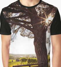 grapevine field in the italian countryside Graphic T-Shirt