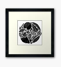 The magical world of nature, Linocut art Framed Print