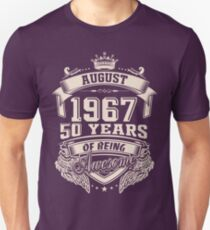 Born In August 1967 50 Years Of Being Awesome T-Shirt