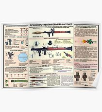 educational posters RPG-7 Poster