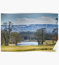 Beamsley Moor from Bolton Abbey Poster