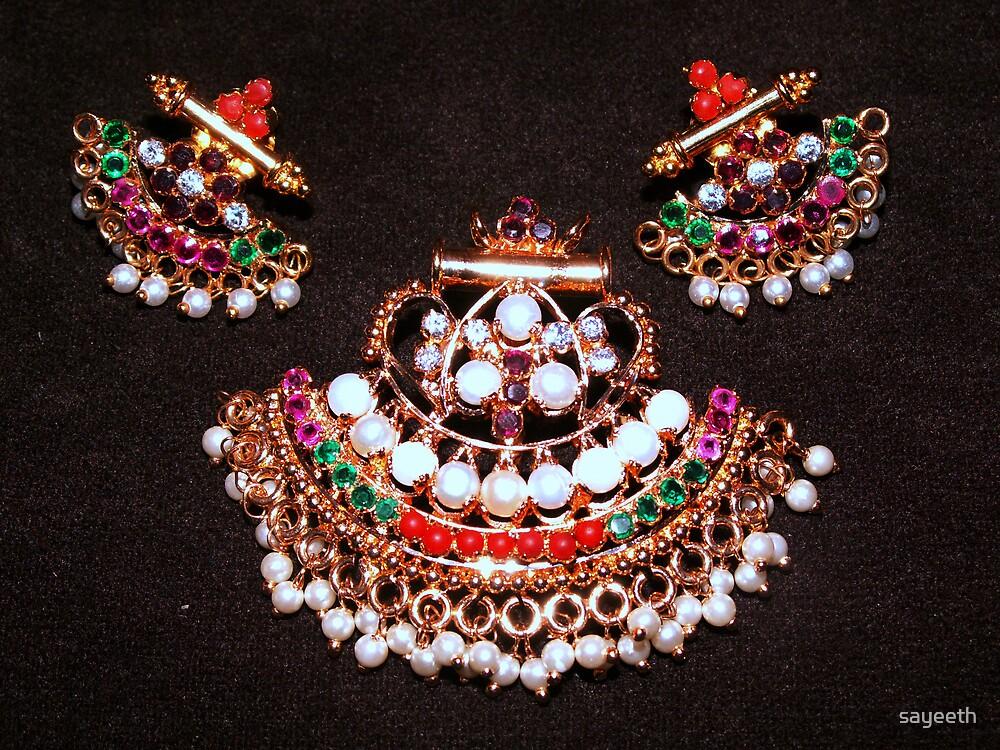 Art with jewellery by sayeeth