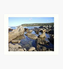 "Rockpool at the ""Sewer"" Art Print"
