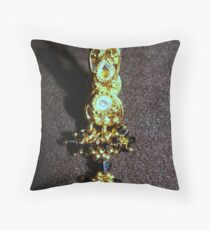 One Ear Ring Throw Pillow